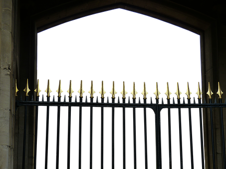 Goal, Fence, Middle Ages, Gold, Iron Gate, Input, Metal