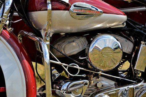 Motorcycle, Harley, Harley Davidson, Motor, Chrome