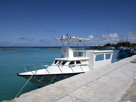 Boad, Speedboat, Thoddoo, Maldives, Sea, Ocean, Water