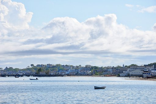 Provincetown, Harbor, Clouds, Boat, Water, Cape, Cod