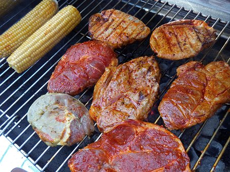 Barbecue, Charcoal, Grill, Delicious, Raw Meat, Steak