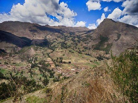 Peru, Path, Sol, Valley, Mountain, Landscape, Tourism