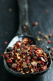 Hot, Spices, Spoon, Red, Ingredient, Pepper, Food