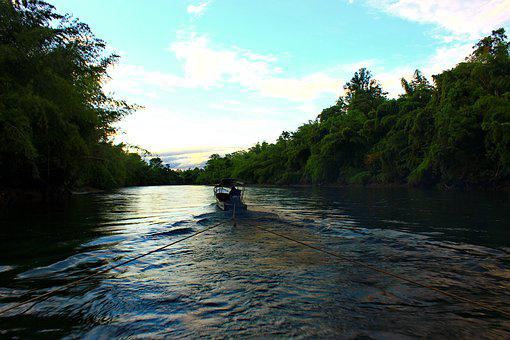 River, Thailand, South-east Asia, Boat
