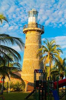 Lighthouse, Cartagena, Travel, City, Tower, Blue, Coast