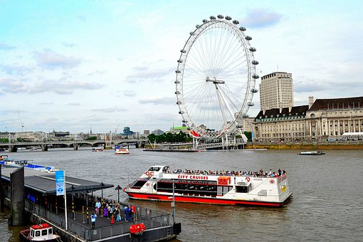 London, London Eye, England, Eye, City, River, Uk