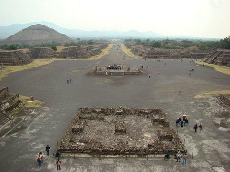 Teotihuacan, Pyramids, Mexico, Vestige, Prehispanic