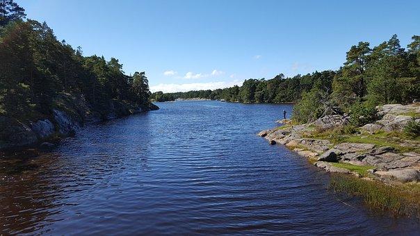 Summer, Finnish, Sea, Beach, Angler, Nature