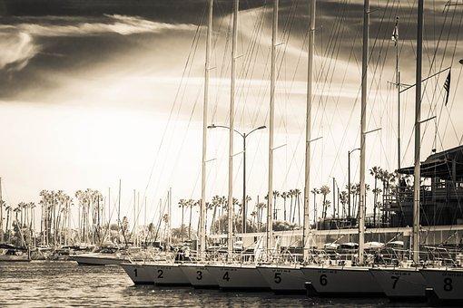 Sail Boat, Ocean, Bay, Boat, Sea, Sail, Water, Summer