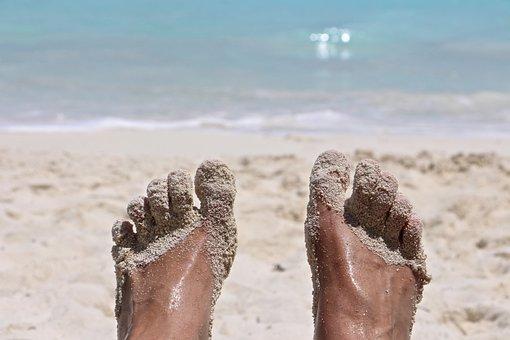 Feet, Sand, Beach, Foot, Barefoot, Sand Beach