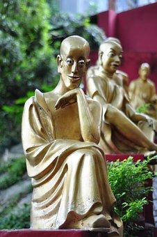 Budda, Ten Thousand Buddhas Monastery, Statue