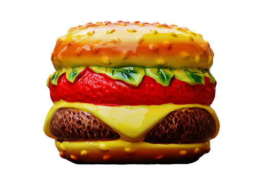 Cheeseburger, Piggy Bank, Ceramic, Fragile, Decoration