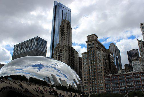 Chicago, Cloud Gate, Places Of Interest, Usa