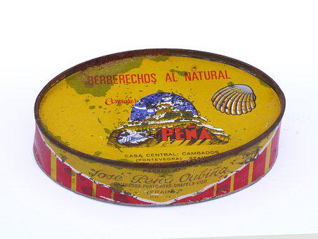 Can, Tin, Old, Vintage, Canned, Cockles