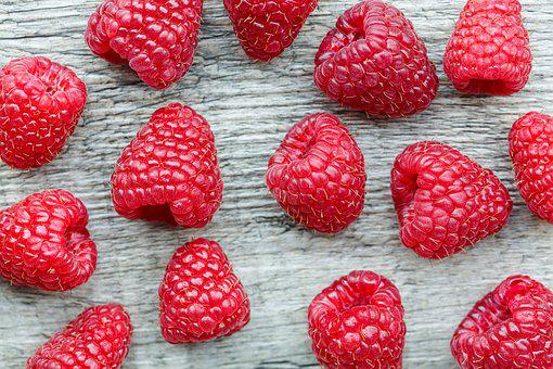 Raspberry, Top View, Wooden Table, Food, Top, Sweet