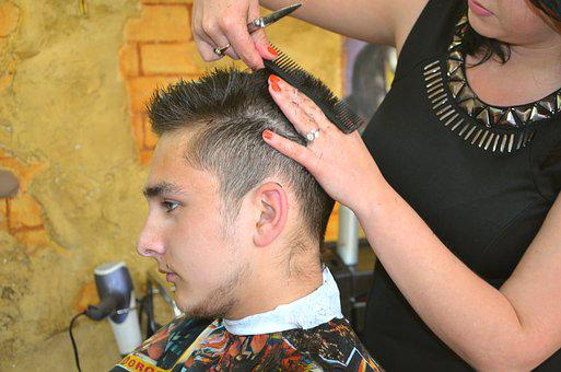 Beauty Salon, Hairstyle, Hair Styling, Man, Hairdresser