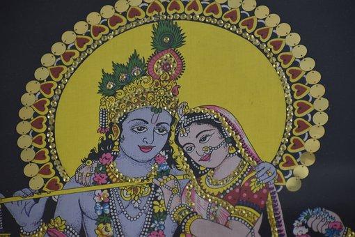 Radha-krishna, Scenery, Handicraft