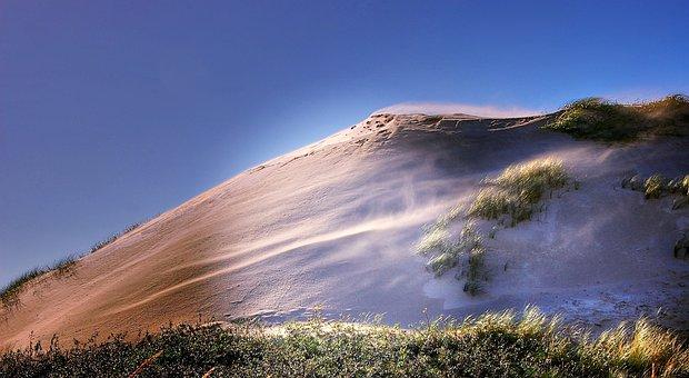Denmark, Dune, North Sea, Beach, Sea, Sky, Holiday