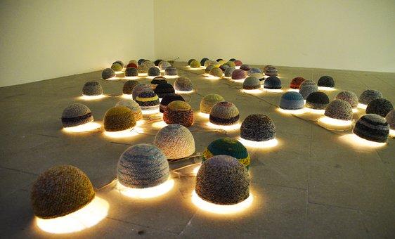 Bulbs, Lamps, Knitted, Light, Interior Design