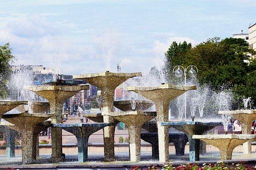Fountain, Gdynia, Kosciuszko Square, Tour, Holiday