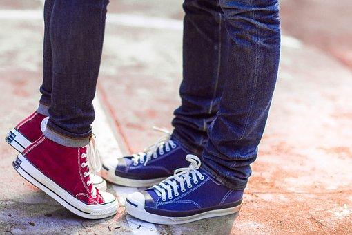 Converse, Couple, Love, Lover, Sneaker