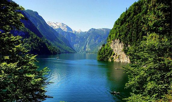 Königssee, Malerwinkel, Bavaria, Nature, Lake