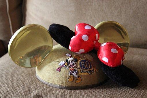 Disney, Ears, Hat, Minnie, Bow, Cartoon, Collection