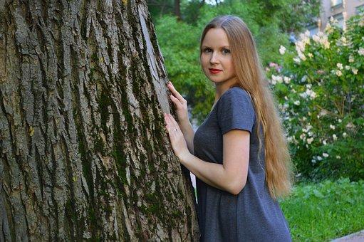 Girl, Summer, Greens, Park, Nature, Photo, City Park