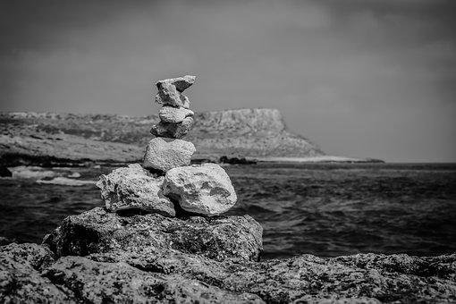 Stones, Path Sign, Nature Trail, Cavo Greko