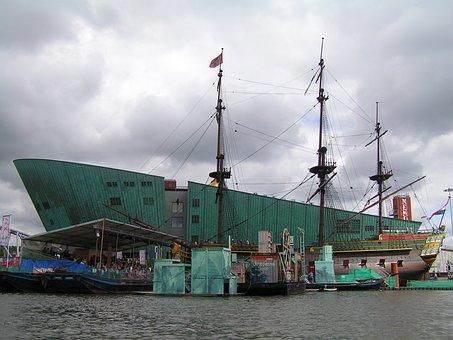 Netherlands, Amsterdam, V, O, C, Ship, Nemo, Canals
