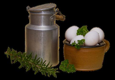 Milk Can, Pot, Egg, The Wax Pot, Clay Pot, Parsley