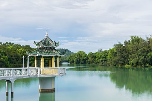 Reservoir, Pavilion, Scenery