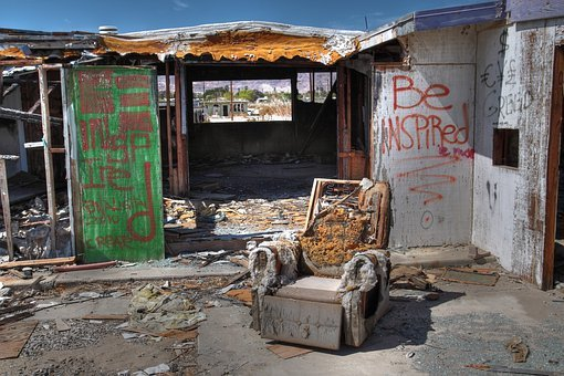 Graffiti, Salton, Sea, Abandoned, Spray Paint, Wall