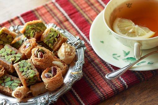 Tea, Teatime, Pastry, Syrian, Sweet, Pistachio