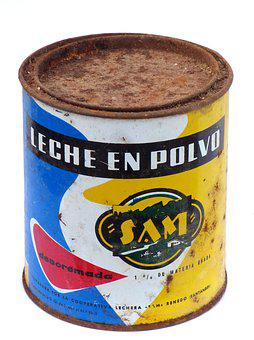 Can, Old, Vintage, Milk Powder, Design