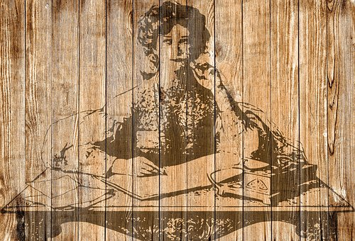 On Wood, Shabby Chic, Vintage, Playful, Background