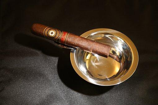 Cigar, Ash Tray, Tobacco, Smoke, Ashtray, Smoking