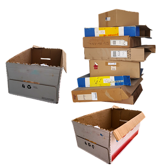 Carton, Boxes, Movable, Trash, Recycle, Package