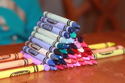 Crayons, Crayola, Color, School, White, Pencil