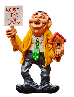 Real Estate Agents, Figure, Funny, For Sale, Decoration