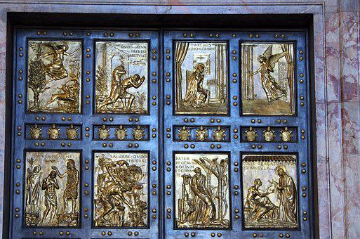 Italy, Rome, Vatican, St-pierre, Cathedral, Door