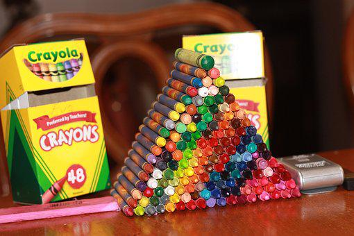 Crayons, Crayola, School, Drawing, Colorful, Education