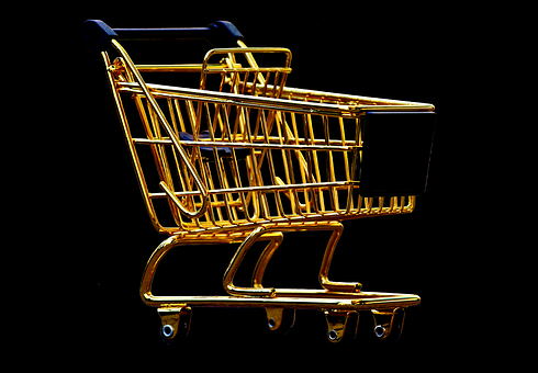 Shopping Cart, Isolated, Exemption, Cut Out, Shopping