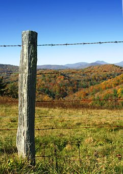 Post, Barbed Wire, Field, Fence, Fencepost, Barbed