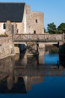 Castle, Moat, Pierre, History, Old Building