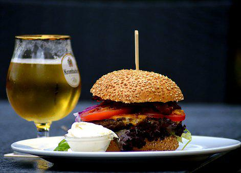 Food, Eat, Beer, Hamburger, Nutrition, Meat, Kitchen