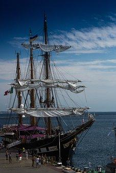 Tall Ship, Navy, Nautical, Ship, Sailboat, Sea, Vessel