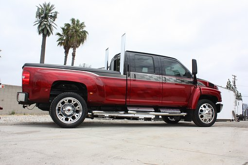 Truck, Pipes, Red, Custom, Big Rig, Vehicle, Gas, Car