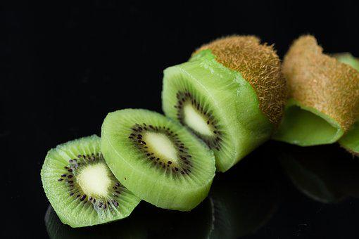 Kiwi, Peeled, Green, Fresh, Juicy, Ripe, Tropical