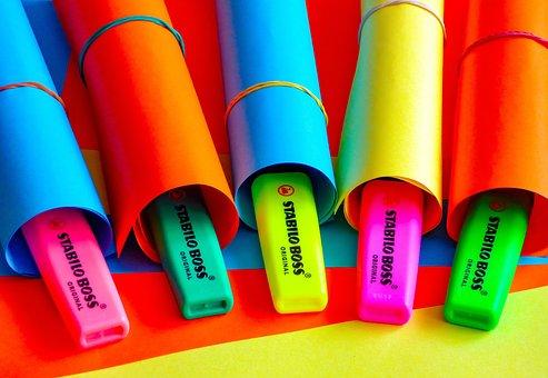 Office, Work, Paper, Color, Sorkiemelő, Paperwork